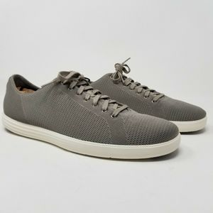 COLE HAAN Men's Grand OS Crosscourt Knit Gray Shoe